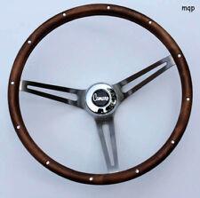"""1969-1994 Camaro Grant Wood Steering Wheel 15"""" brushed stainless spokes"""