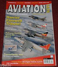 Aviation News Magazine 2011 March Harrier,Ozark Airlines,ONA,Meteor,Lufthansa