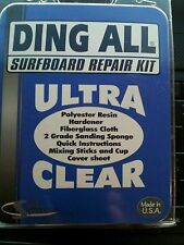 Ding All Ultra Clear Surfboard Repair Kit Longboard Polyester Resin fiberglass