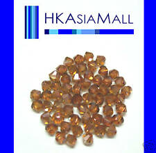 20 Swarovski Crystal Beads 5301 CRYSTAL COPPER 6mm