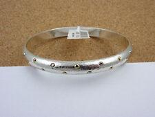 BRIGHTON Hammered Silver / Crystal MELANGE Bangle Bracelet ~ NEW