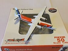 VLM Airlines Fokker 50 Cup Holland OO-VLP Aircraft Model 1:400 Scale JC Wings