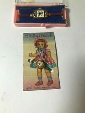 2 Vintage Rare Dolly's Watch Doll Wristwatch  Band Girl On Factory Card