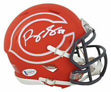 Bears Roquan Smith Authentic Signed AMP Speed Mini Helmet Autographed BAS
