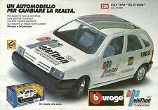 X7173 BBurago - Fiat Tipo Telethon - Pubblicità 1992 - Advertising