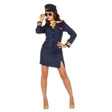 Damen-Kostüm Stewardess, marineblau Flugbegleiterin Saftschubse Pilotin