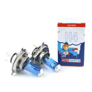2x H4 100w Super White Xenon Upgrade HID Main High/Low Dip Beam Headlight Bulbs