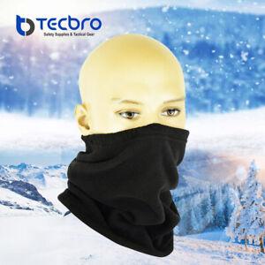 Tecbro Neck Warmer Winter Fleece Neck Gaiter Cold Weather Face Cover Mask Shield