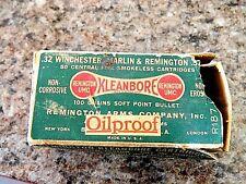 Vintage Remington Kleanbore .32 Soft Point Oil Proof Ammo Box