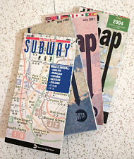 New ListingVintage New York City Subway Maps - 1997, 1998, 2001, 2004 Nyc Transit Maps