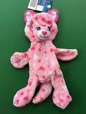 Build a Bear Full Size Huggable Hearts Pink Kitty Plush Toy - Unstuffed - New