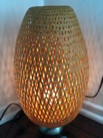 Boho Chic Woven Bamboo Ambiance Table Lamp