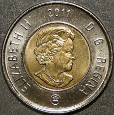 BU UNC Canada 2011 Toonie $2 Dollar Coin from mint roll