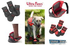 Dog Boots RUGGED Ultra Paws ALL WEATHER Water Repellent Durable Grip Sole Set 4