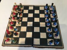 Hand painted chess set USA vs Russia cold war