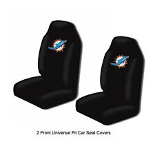 Northwest NFL Miami Dolphins Car Truck 2 Front Bucket Seat Covers Set