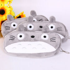 New Cartoon Gray Big face Cat Pencil Case Purse Cosmetic Pouch Zipper Makeup Bag