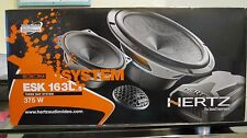 "HERTZ ESK-163L.5 6.5"" 375W 3-WAY Component SPEAKERS Mids CROSSOVER Tweeters NEW"