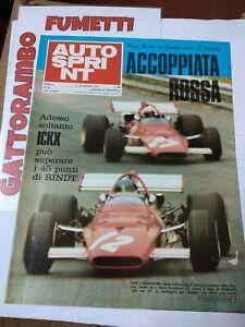 Autosprint N.38 Ickx e Regazzoni  ~Anno 1970 ottimo