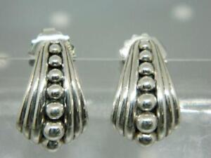 LAGOS Sterling Silver Caviar Fluted Half Hoop Earrings