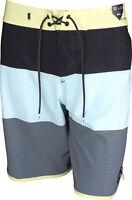 """Quiksilver Mens Highline Tijuana Scallop 20"""" Boardshorts - Aquatic Blue"""