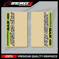 KYB UPPER FORK DECALS MOTOCROSS GRAPHICS MX GRAPHICS PROCIRCUIT CLEAR GREEN