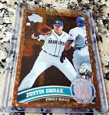 JUSTIN SMOAK 2011 Topps Diamond Cognac SP Rookie Card RC HOT Blue Jays 20 HRs