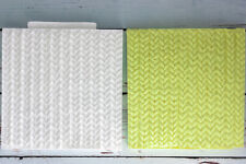 Silicone Mould Knitted Knitting Knit, Cupcake Texture Embossing Mat M165