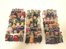 Lot of 12 Hand Woven Multi-Color Guatemalan Worry Dolls Handmade Hair Barrettes