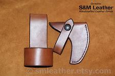 Handcrafted Leather Sheath Cover & Belt Loop Genuine Norlund Voyageur Hatchet