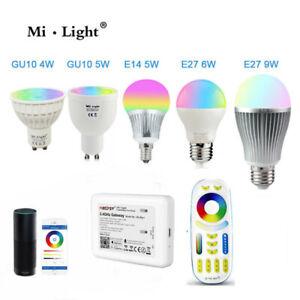 RGBW W/WW E27 E14 GU10 MR16 LED Bulb Light Dimmable RGB CCT Alexa 2.4G Milight