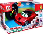 Burago Red Car Ferrari With Remote Control Young driver Toy +24 months