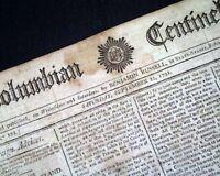 JOHN BURGOYNE British General Death & King Louis XVI of France 1792 Newspaper