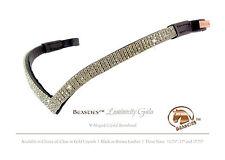 "Clear/Black Luminocity V Shape Crystal Dressage Browband Size: Extra Full 17.75"""