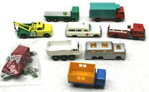 Original 1 Owner 1966 1967 Lesney England Matchbox 9pc Service Rescue Bus Lot+++