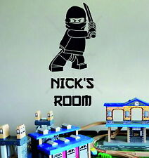Lego Superhero Ninjago Personalised Children's Bedroom Decor Vinyl Wall Sticker