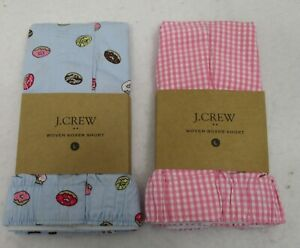 Two Men's J Crew Boxers Large Donuts & Gingham NWT