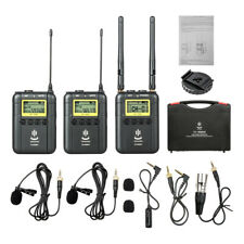 For Camera Outdoor Recording Interview Video Wireless Microphone Mic System R0E9