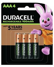 Duracell AAA Rechargeable Batteries NiMh 1.2V 900 mAh NEW & Sealed 1 Pk Of 4*