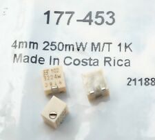 Bourns 3224W-1-102E Series 12-Turn SMD Trimmer Resistor ; lot of 3 parts