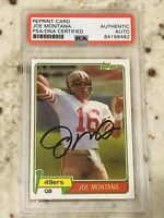 Joe Montana 1981 Topps Card #216 Rookie Card RC PSA Authentic Auto Autograph RP