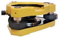 Yellow Open Center Tribrach for Leica, Topcon, Trimble, Nikon, Sokkia