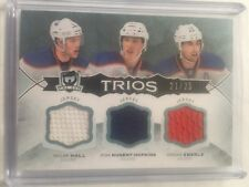 2014-15 The Cup Hall Nugent-Hopkins Eberle Jersey /25 Trios Upper Deck 14/15 SP