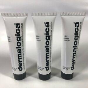 (3X) Dermalogica Skin Face Prep Scrub 22 mL / 0.75 oz. Travel Size Lot of 3