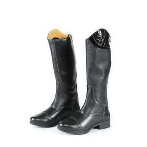 NEW Moretta Marcia Riding Boots Rear Zip,Black UK 5 EURO 38 STANDARD  CALF