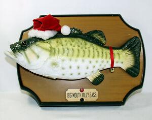 Big Mouth Billy Bass 1999 Gemmy Christmas Singing Fish Jingle Bells *Read*