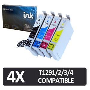 4x Blue Box ink cartridges non-oem t1291 t1292 t1293 t1294 t1295