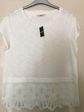 George White Short Sleeve Cotton T Shirt, Size 16
