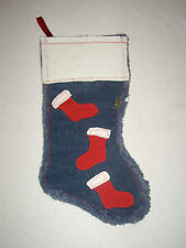 Christmas stocking, Handmade Denim & fleecy stockings Xmas Sock, Christmas, Home