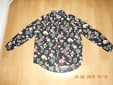 BNWOT Womens Girls Black  Flower Shirt Size 14